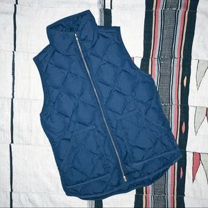 Down Quilted Vest from J.Crew in Navy
